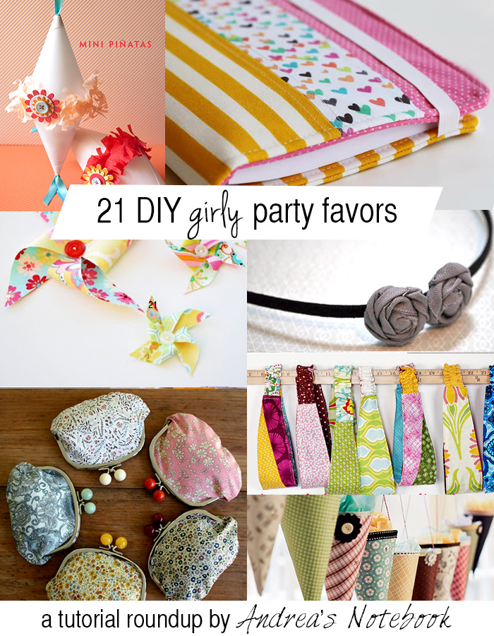21 DIY girly party favors - these are great!