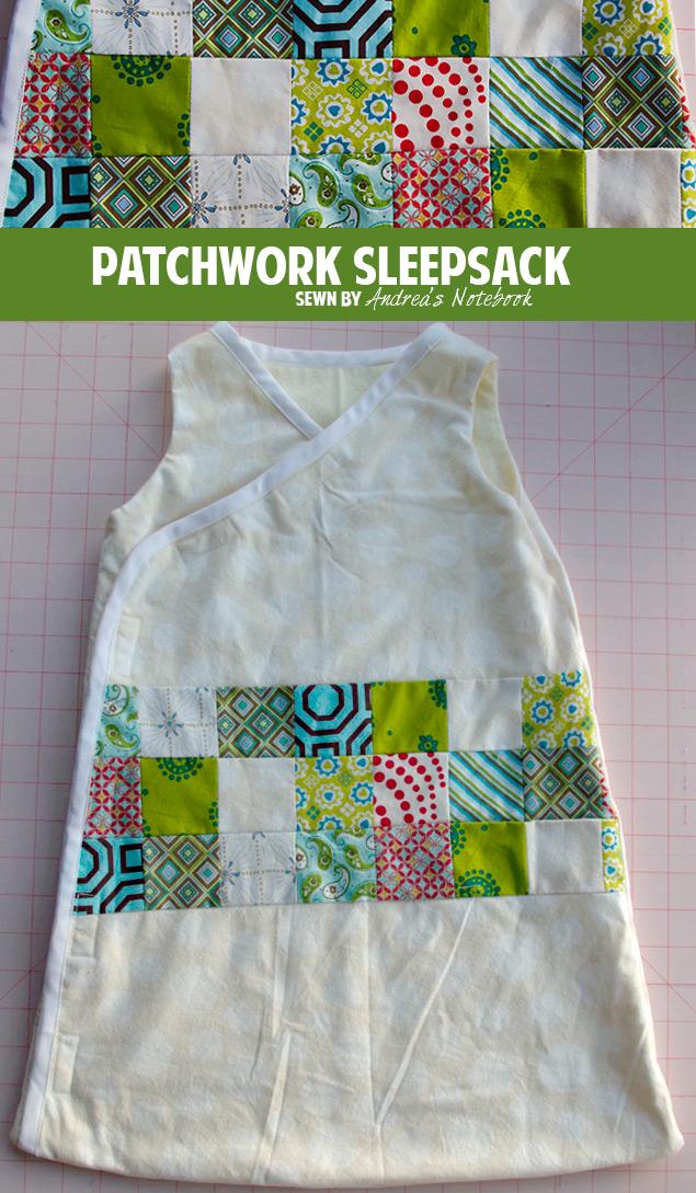 Adorable patchwork sleepsack | andreasnotebook.com