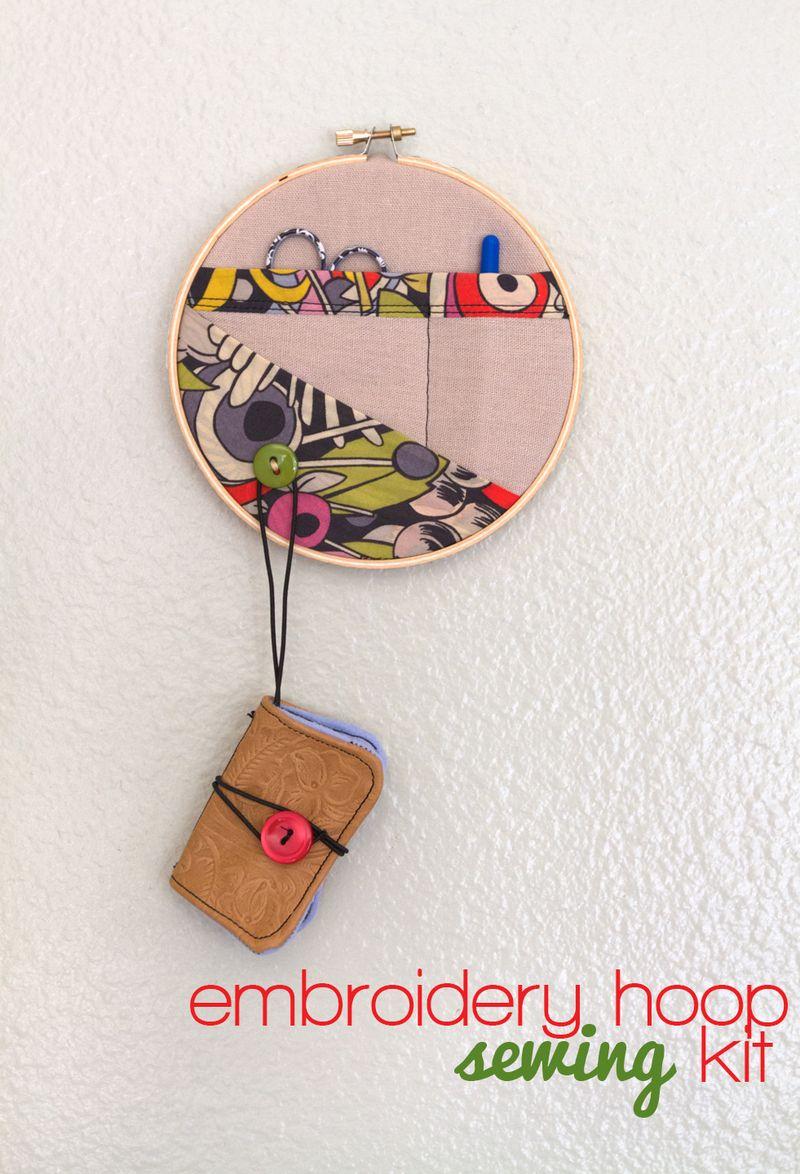 DIY embroidery hoop sewing kit