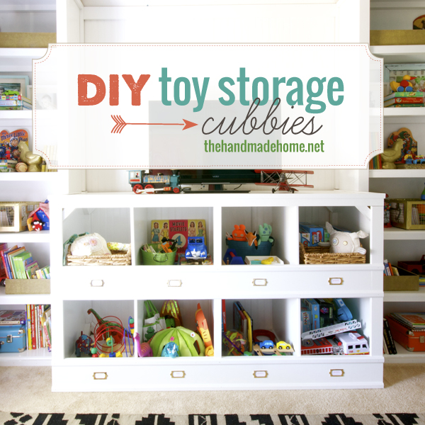 Build your own toy cubbies and dozens of other great DIY toy storage solutions