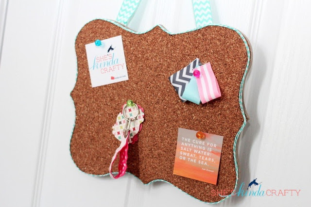 20 minute fancy corkboard tutorial (& other great DIY gifts!)