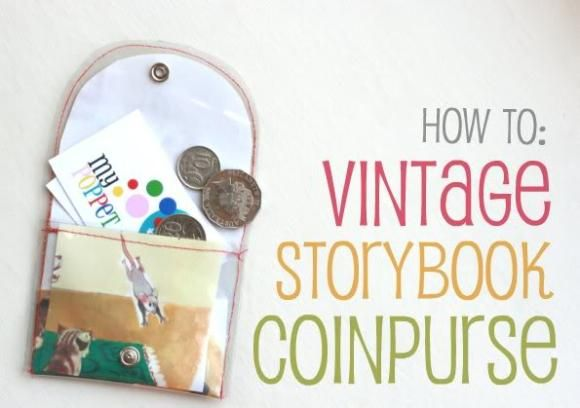 storybook coin purse tutorial