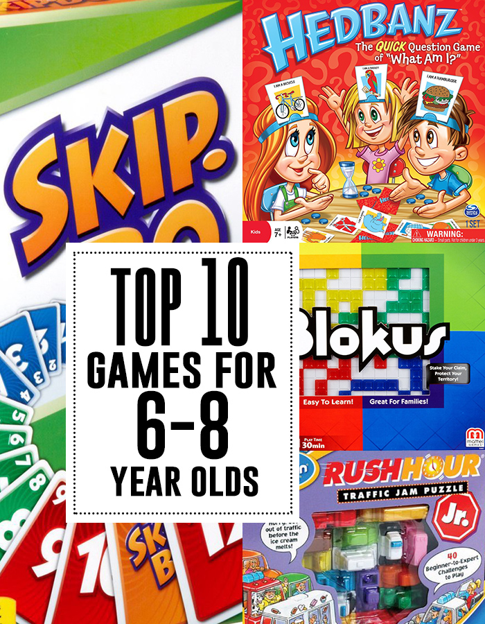 Top 10 games for 6-8 year olds