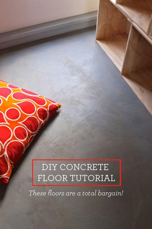 turn plywood floors into gorgeous concrete floors!