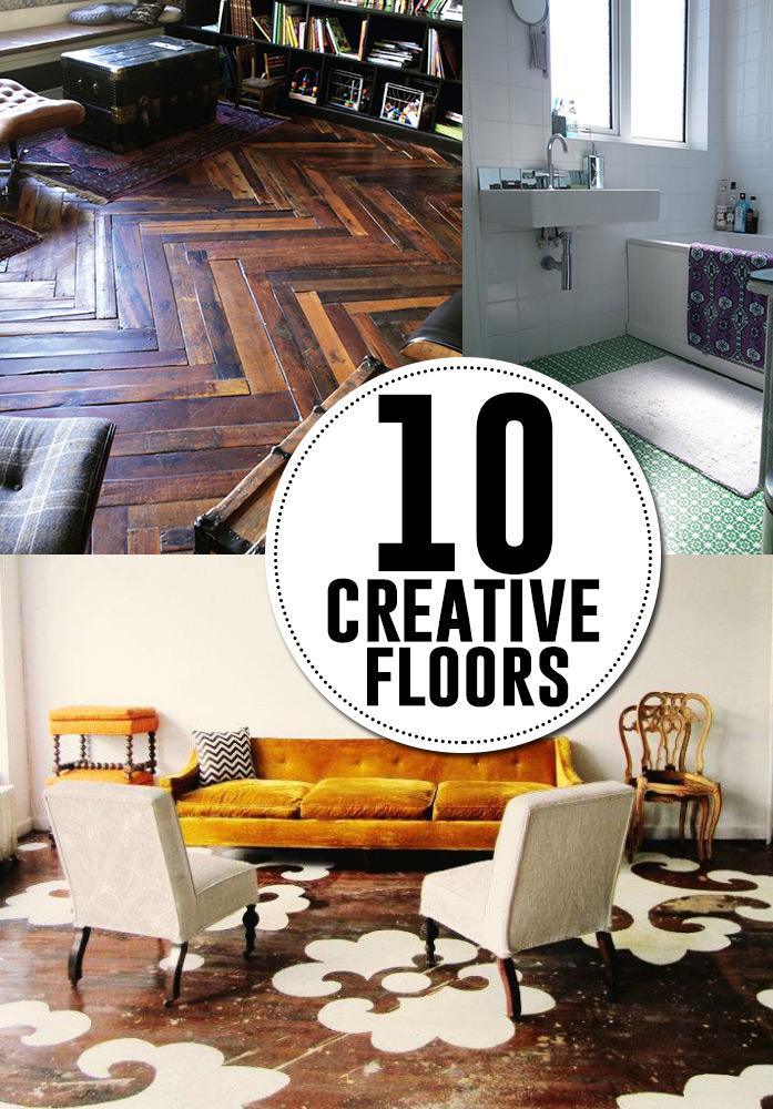 10 creative DIY flooring ideas!