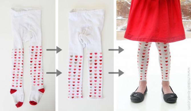 Turn tights into leggings! Lots of great tips to make kids clothes last longer!