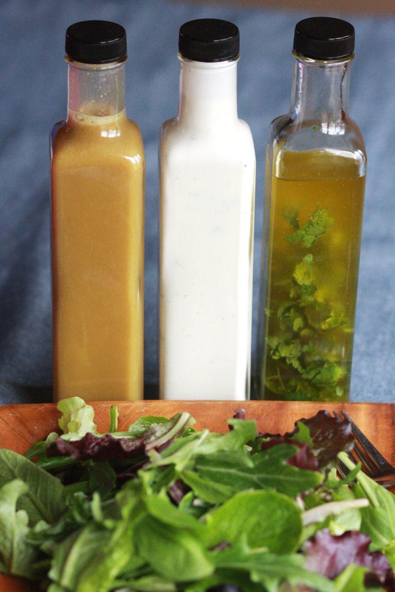 Make your own salad dressing - 3 ways!