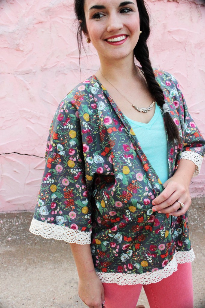 Kimono jacket pattern by Sew Caroline