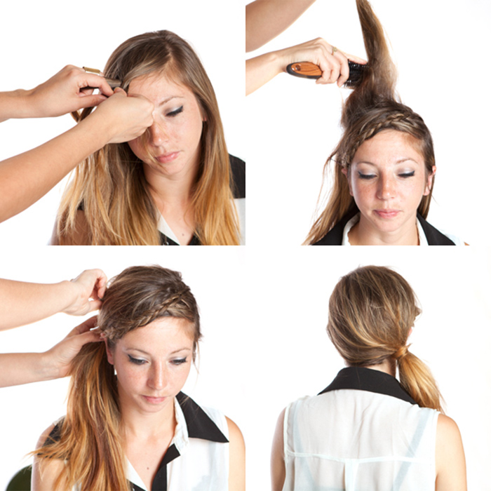 side ponytail tutorial
