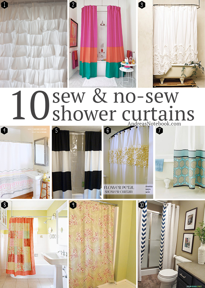 Shower curtain sewing tutorial for Curtain making service