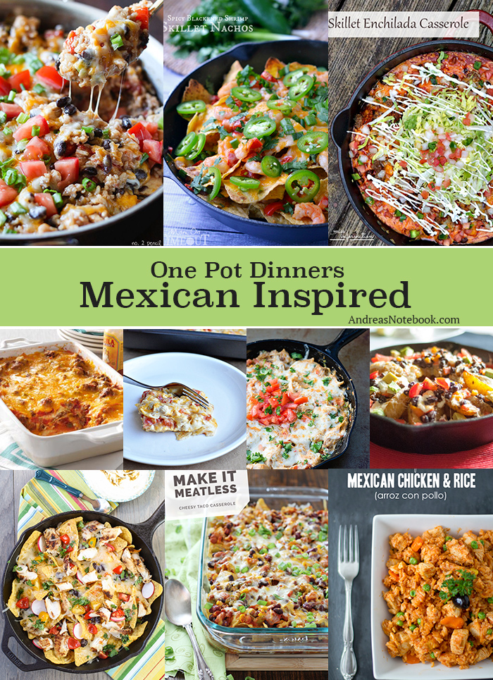 one pot dinners! Delicious Mexican recipes