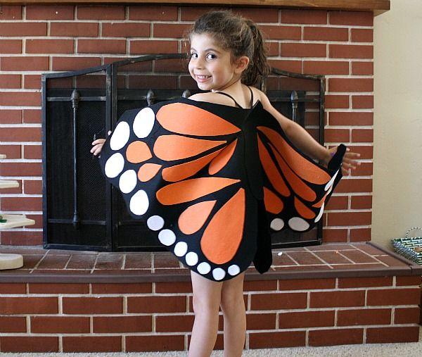 Easy DIY no-sew felt butterfly wings!