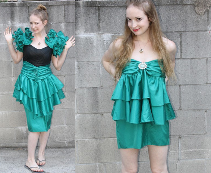DIY prom dress refashoin