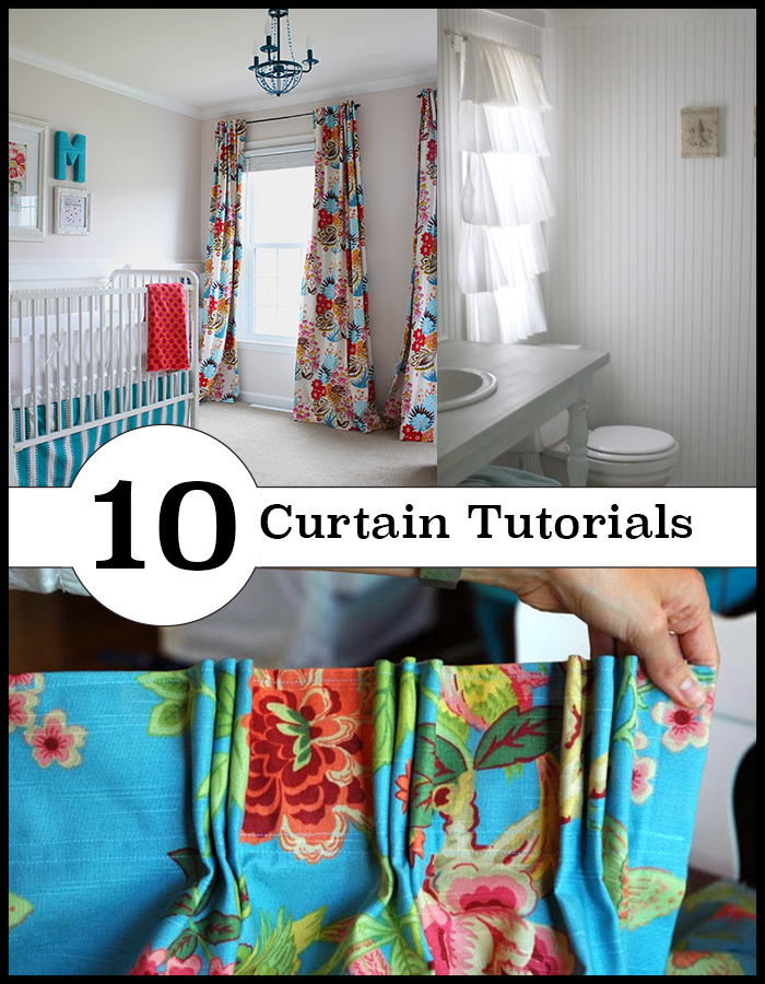 10 different DIY curtain methods. From sew to no-sew
