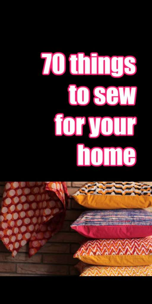 70 things to sew for your home black bring pillows