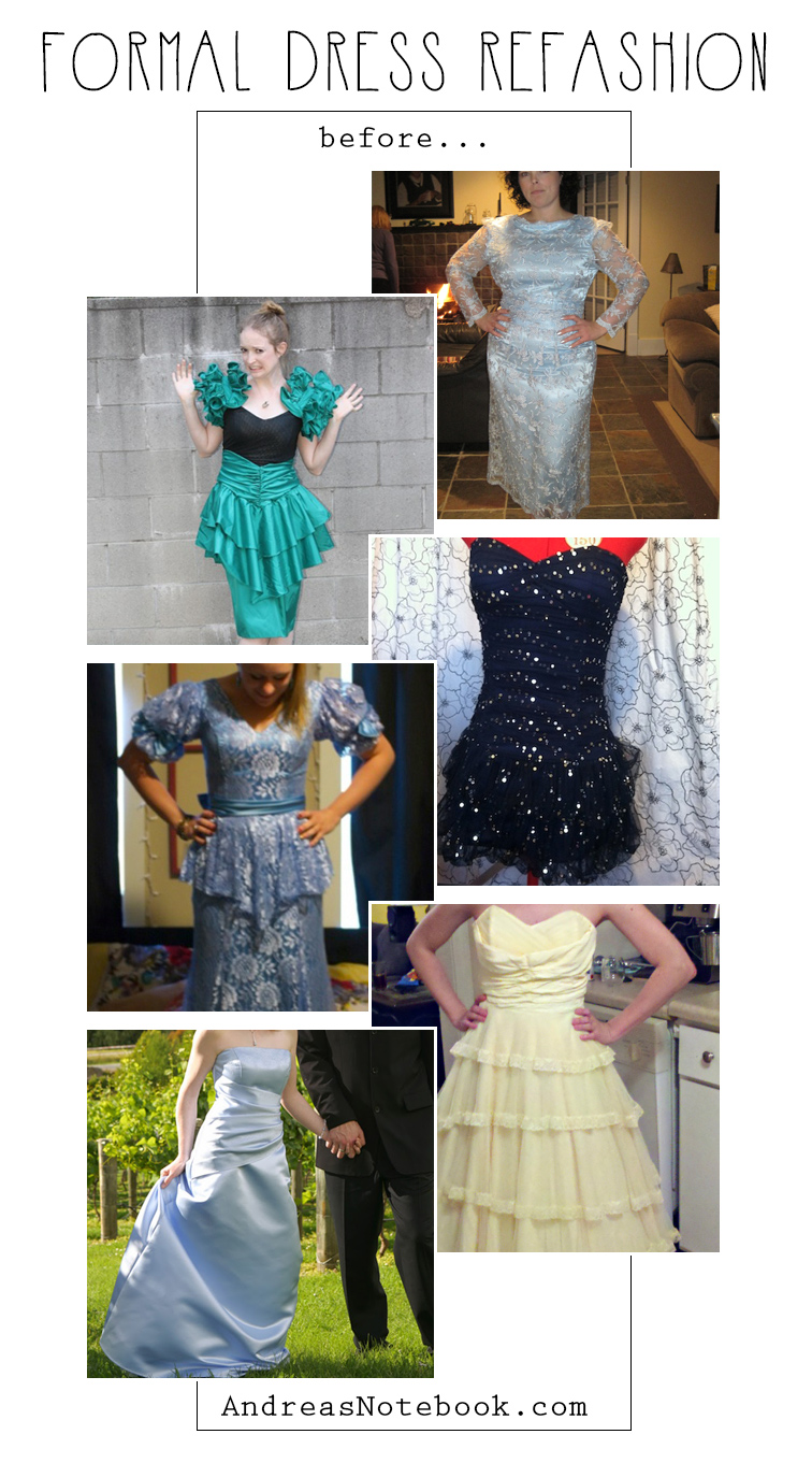 DIY formal dress refashions!