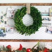 Christmas card display ideas! So cute!
