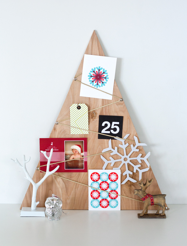 wood card holder & tons of card display ideas.