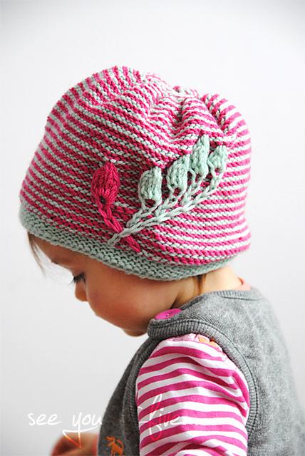 gorgeous knit hat pattern