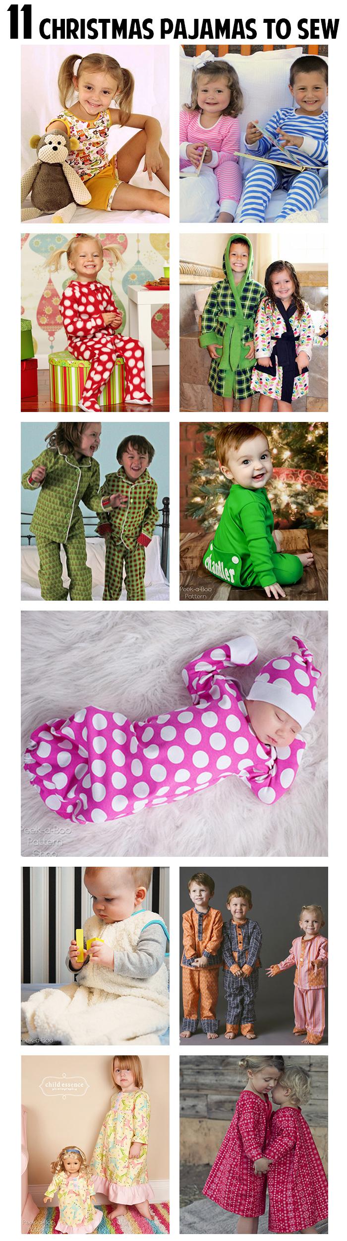 11 Christmas pajamas to sew!