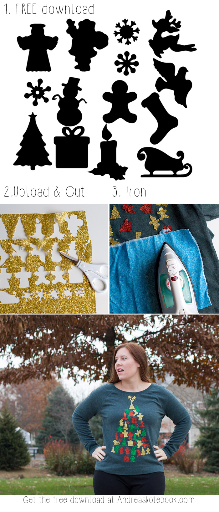 How to make a Christmas sweater - FREE download