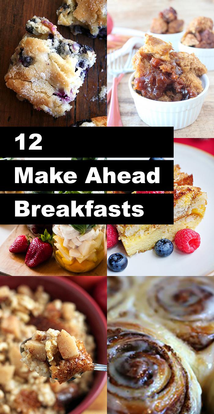 12 drool worthy make ahead breakfasts!