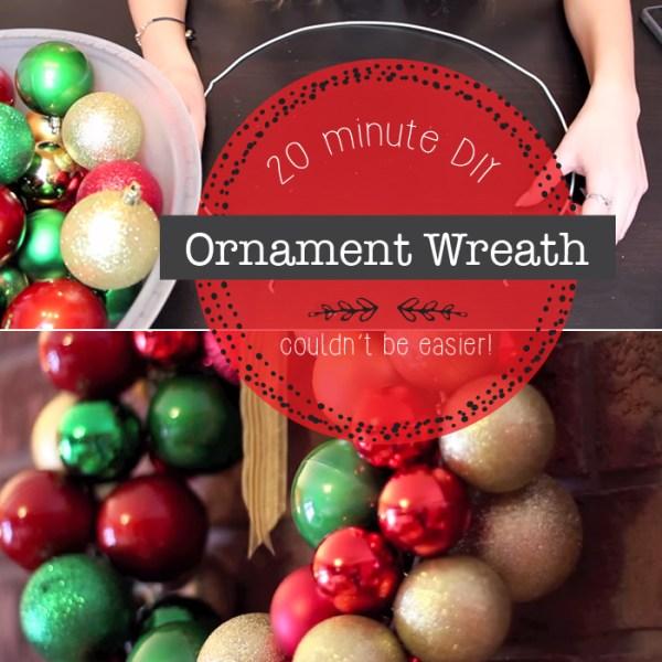hands making ornament wreath