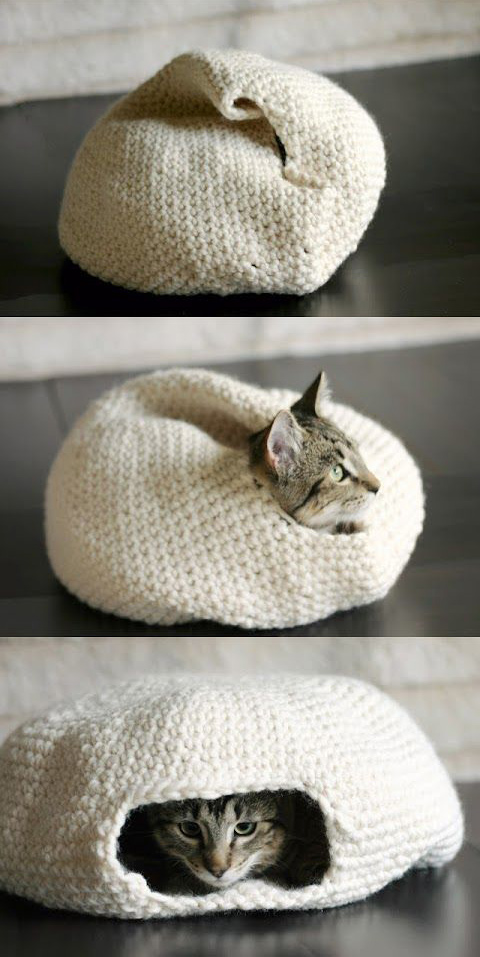 HAND CROCHET A CAT BED IN 15 MINUTES! NO HOOK NEEDED! 10% OFF ... | 957x480