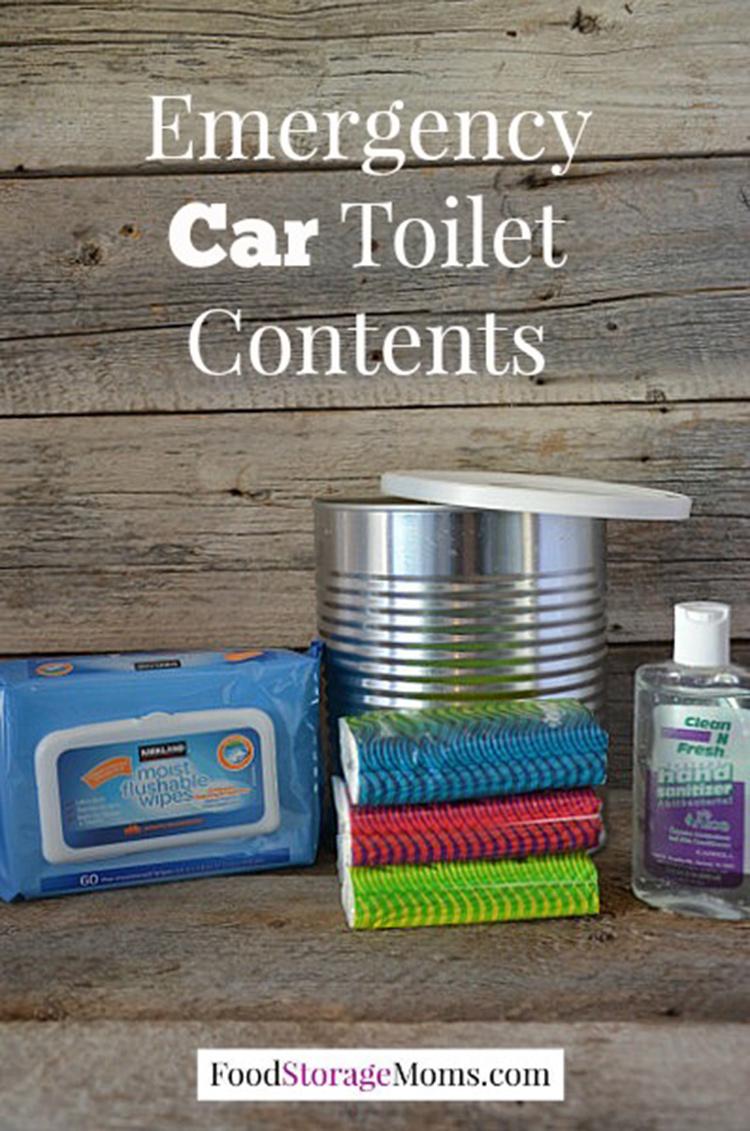Emergency car toilet