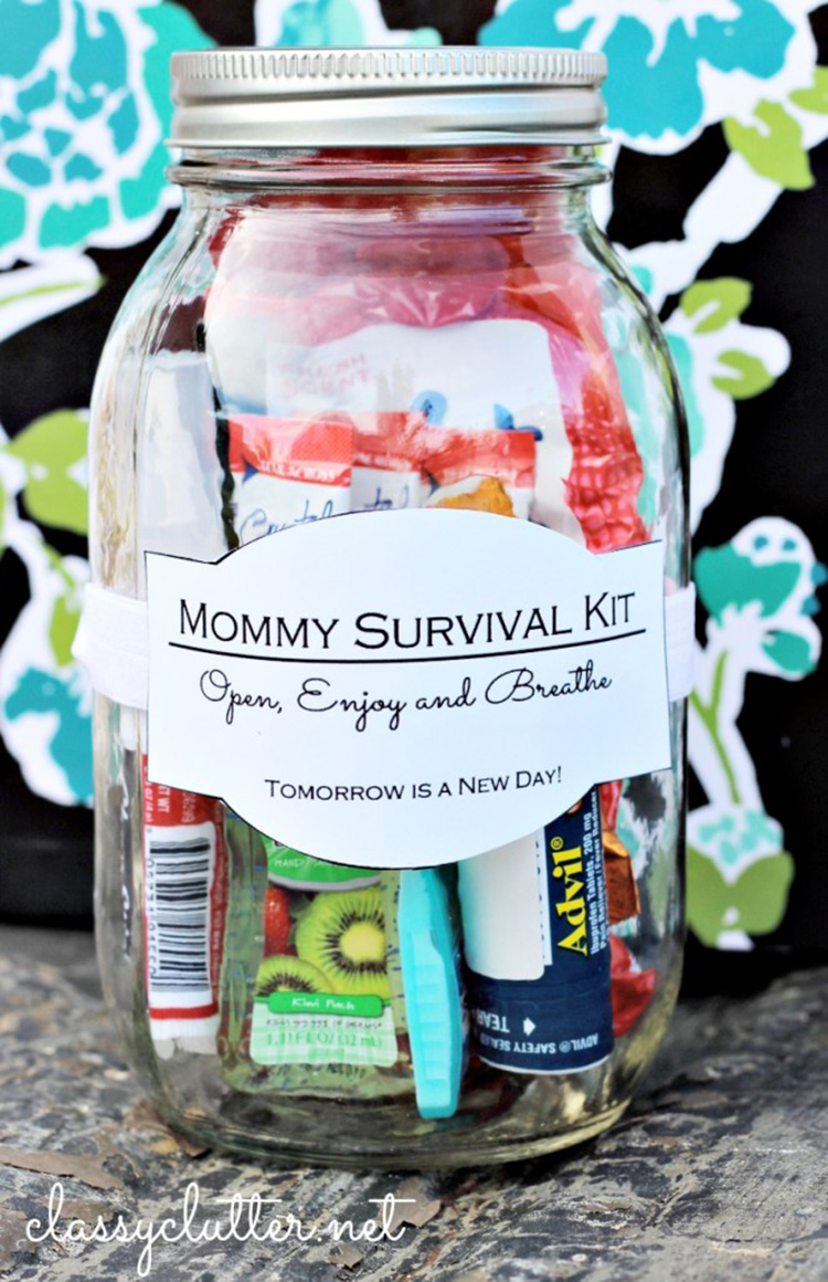 Make a new mommy survival kit