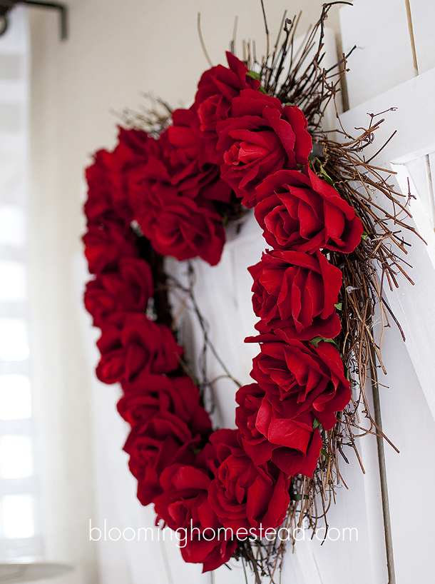 Rose valentines wreath tutorial