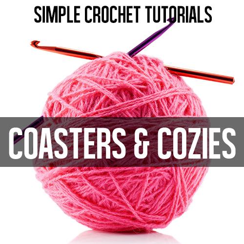 Coasters and cozies crochet tutorials