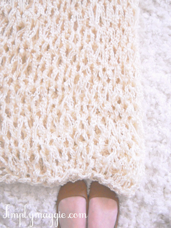 One hour arm knit blanket tutorial