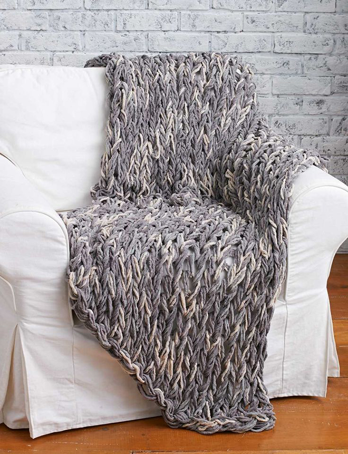 3 Hour Arm Knitted Blanket Tutorial