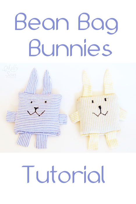 Bean filled bunny bags for bunny toss game