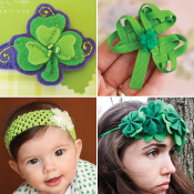 24 St. Patty's Day hair accessory tutorials