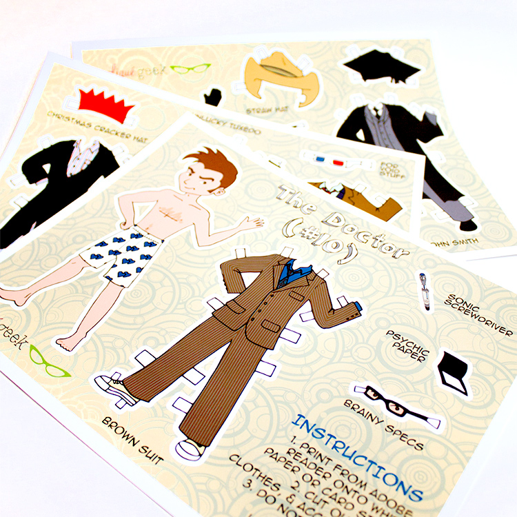 Printable Doctor Who paper dolls