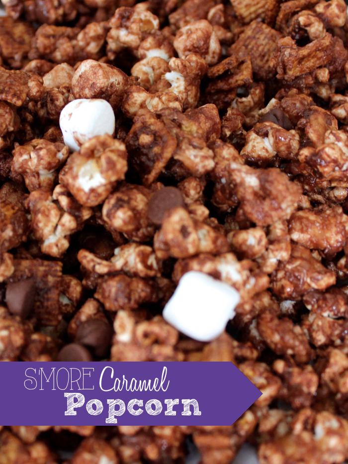 S'more Caramel Popcorn Recipe