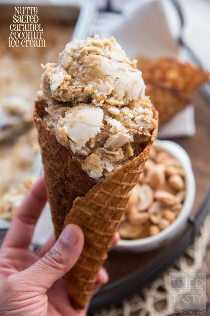 Nutty Salted Caramel Coconut Ice Cream