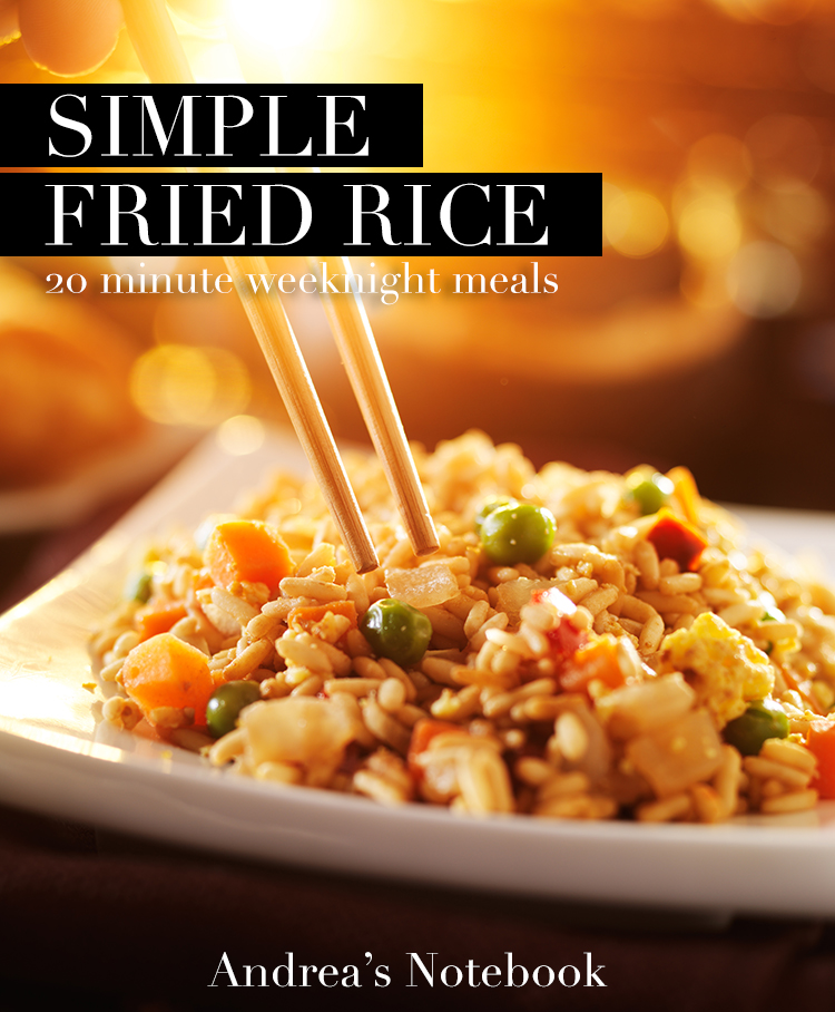 15 minute chicken fried rice recipe! YUM!