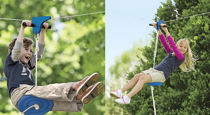 How to make your own backyard zip line!