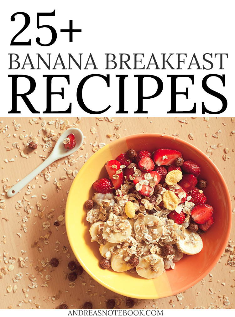 Tons of healthy ways to eat bananas for breakfast! Use up those ripe bananas. Lots of recipes