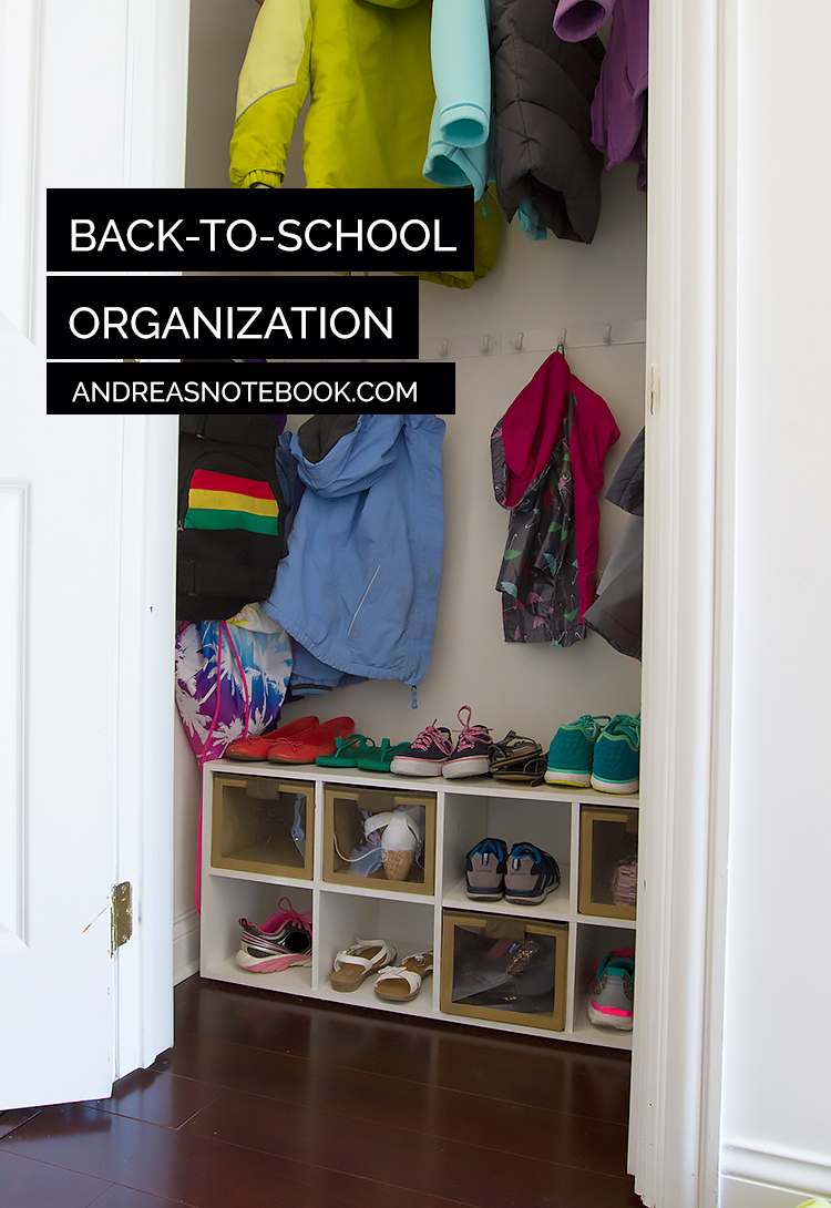 Back-to-school organization closet