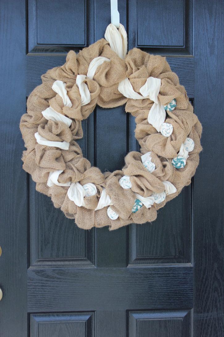 DIY Burlap Wreath 6