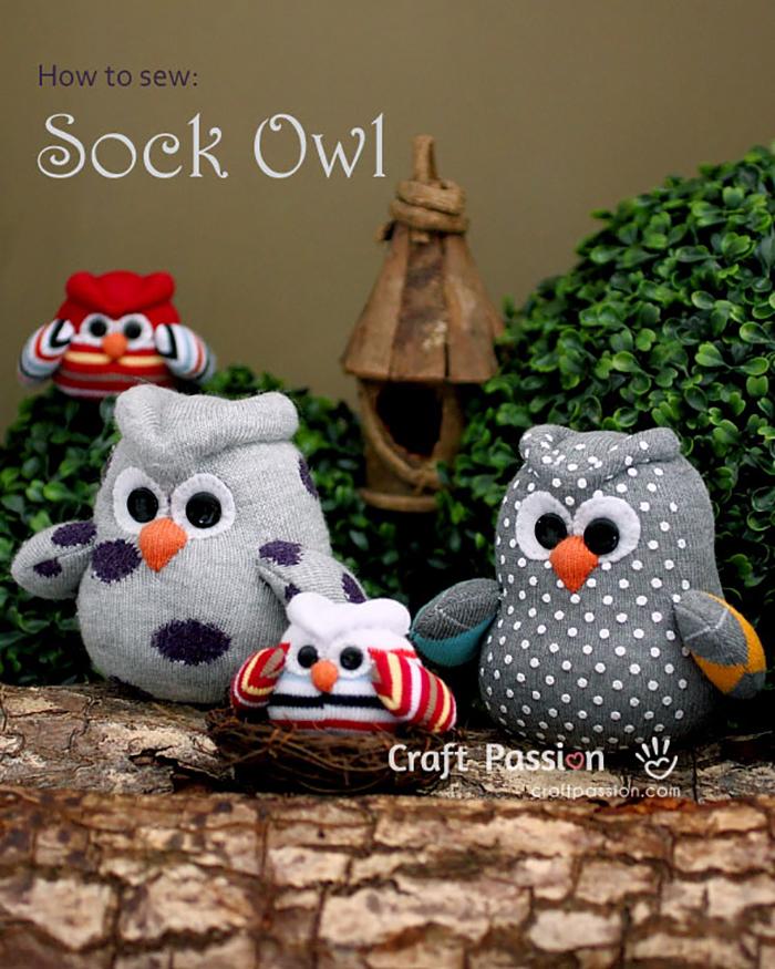 Adorable DIY Sock Owls