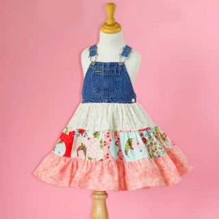Turn overalls into an adorable twirly dress!