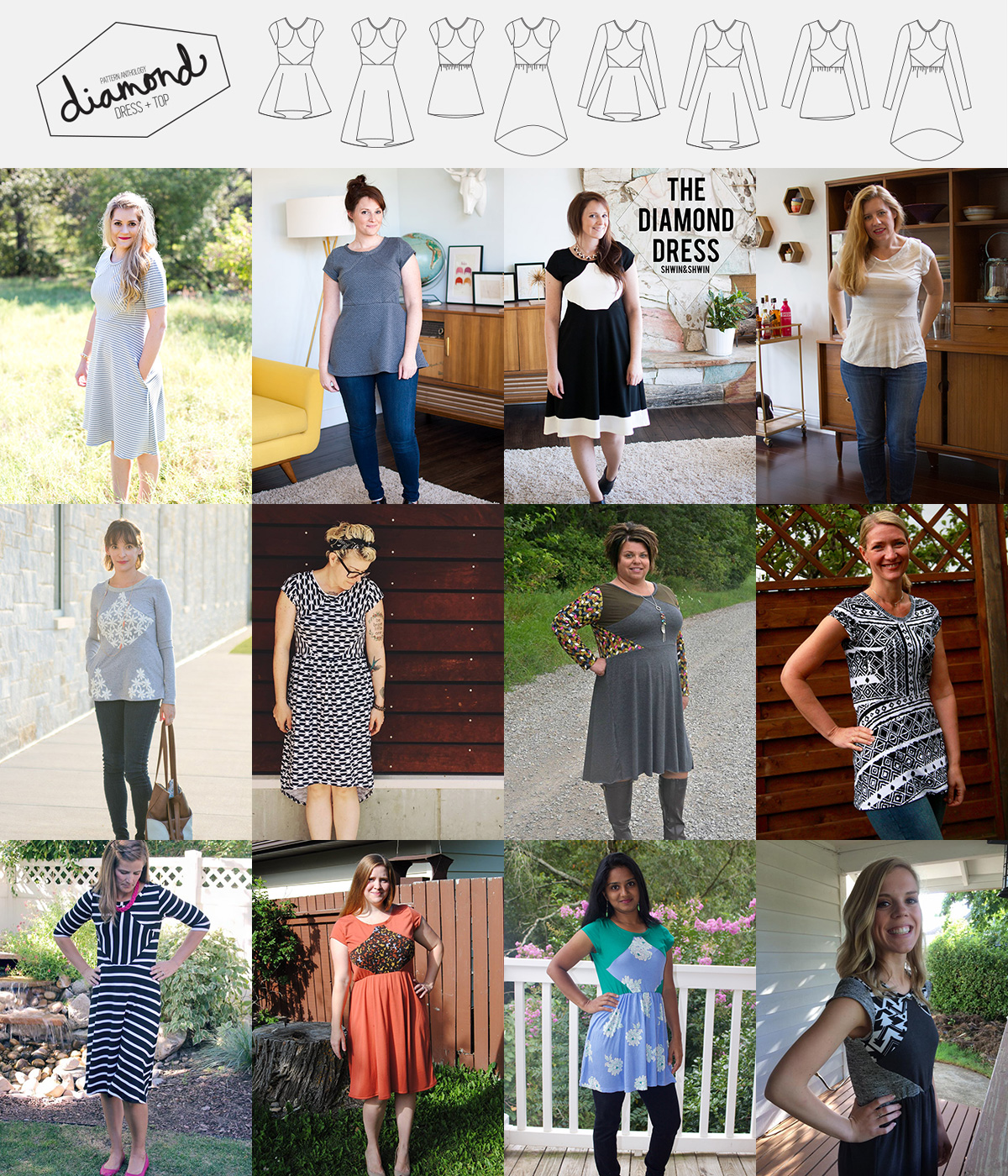 Unbiased Collection by Pattern Anthology | 4 sewing patterns for Every Body