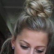 Braided hair bun tutorials