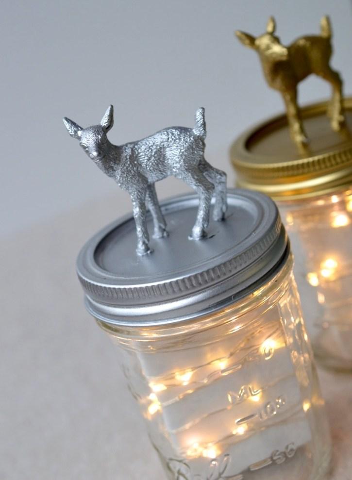 DIY :: Holiday Fairy Light Jars