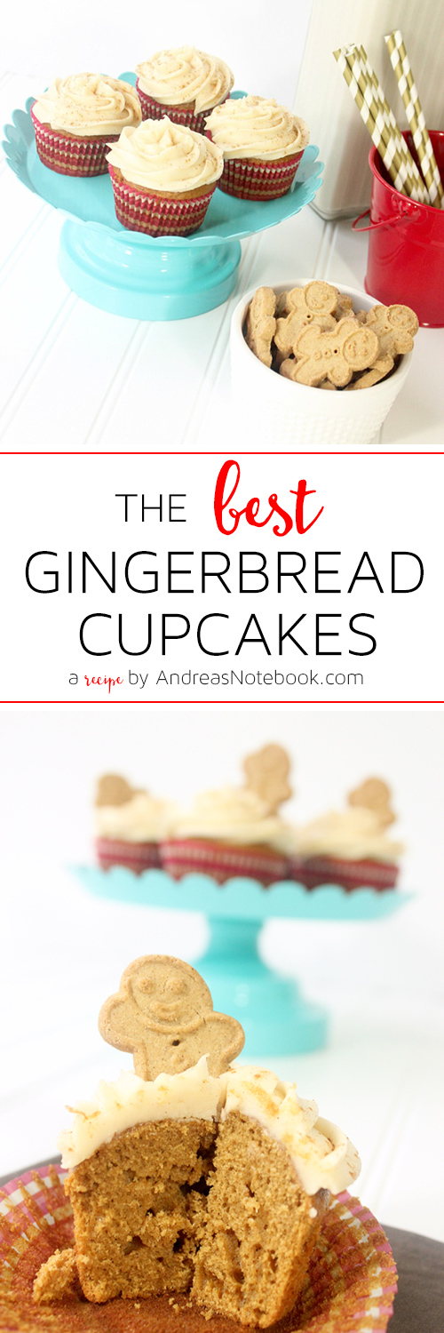 THE BEST Gingerbread Cupcakes Recipe